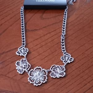 Simply Vera Flowered Silverstone Necklace